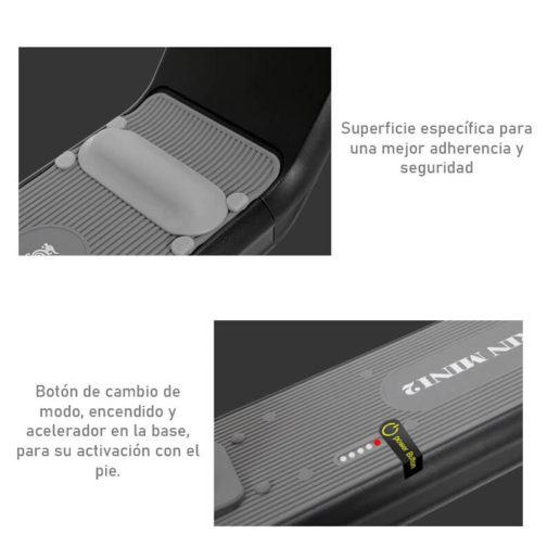 Scooter eléctrico para novatos Kugoo Kirin M2 - Superficie antideslizante