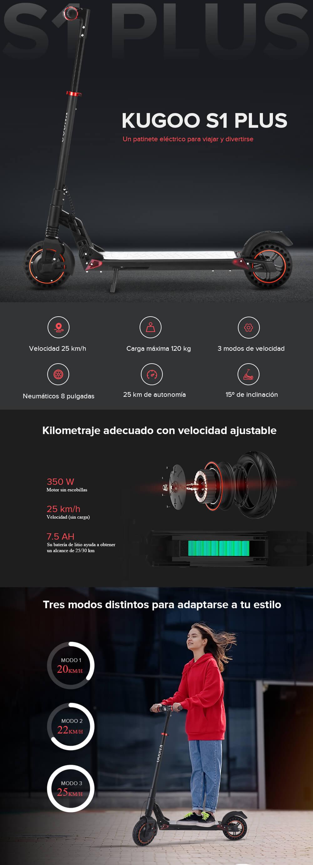 oferta Kugoo S1 Plus al mejor precio